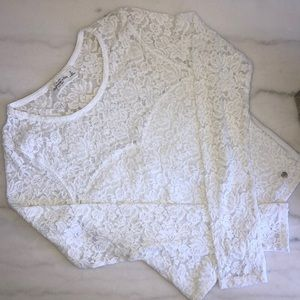 ABERCROMBIE&F || lace long sleeve top